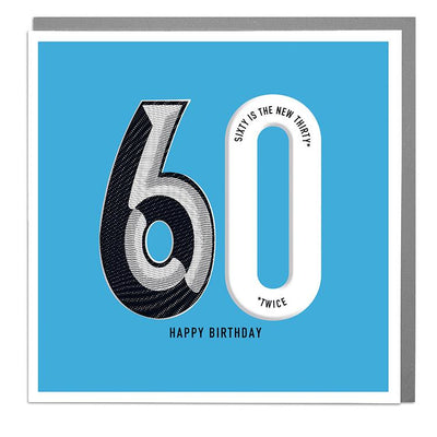 60th Happy Birthday Card - Lola Design Ltd