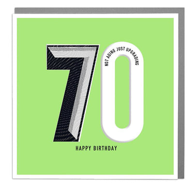 70th Happy Birthday Card - Lola Design Ltd