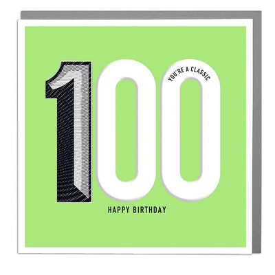 100th Happy Birthday Card - Lola Design Ltd