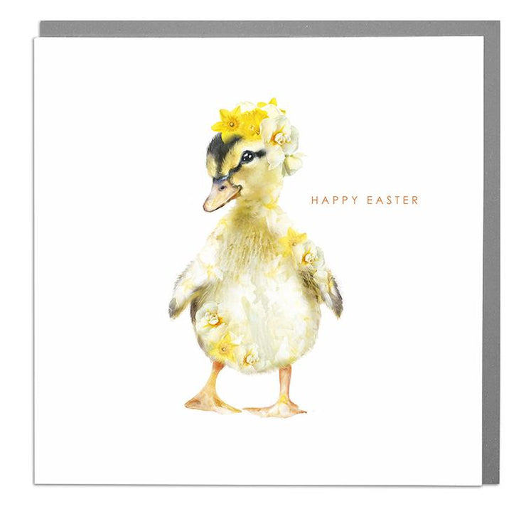 Duckling Happy Easter Card - Lola Design Ltd