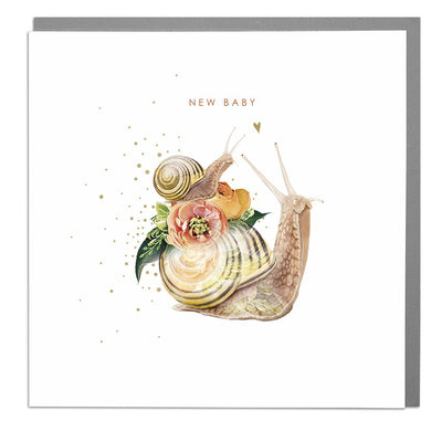 Snails Congratulations New Baby Card - Lola Design Ltd
