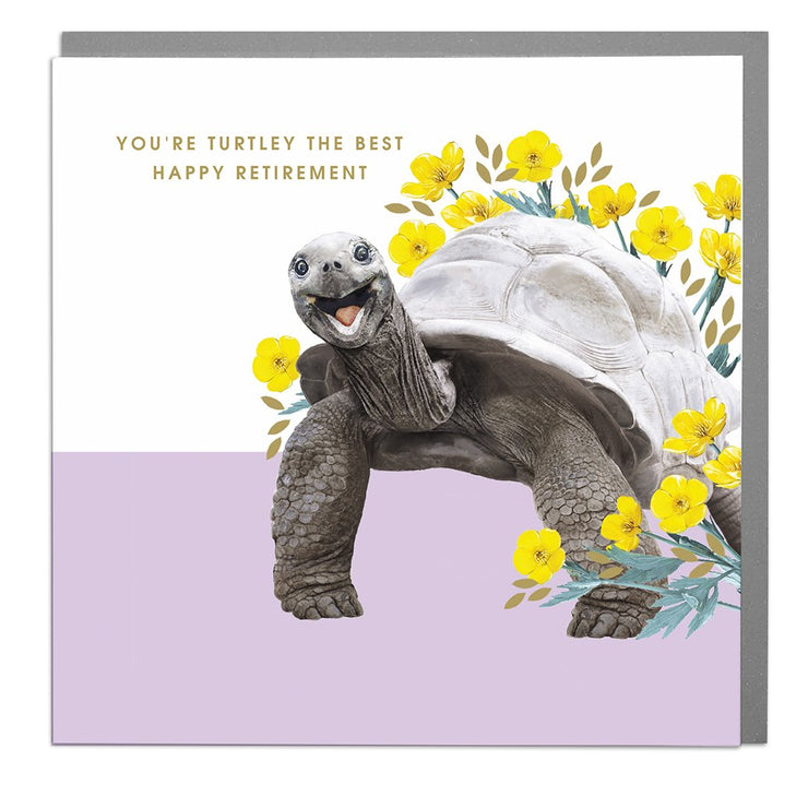 Turtle You're Turtley The Best Retirement Card - Lola Design Ltd