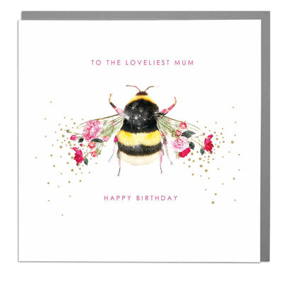 Bee Mum Birthday Card - Lola Design Ltd