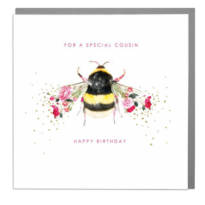 Bee Cousin Birthday Card - Lola Design Ltd
