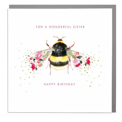 Bee Sister Birthday Card - Lola Design Ltd