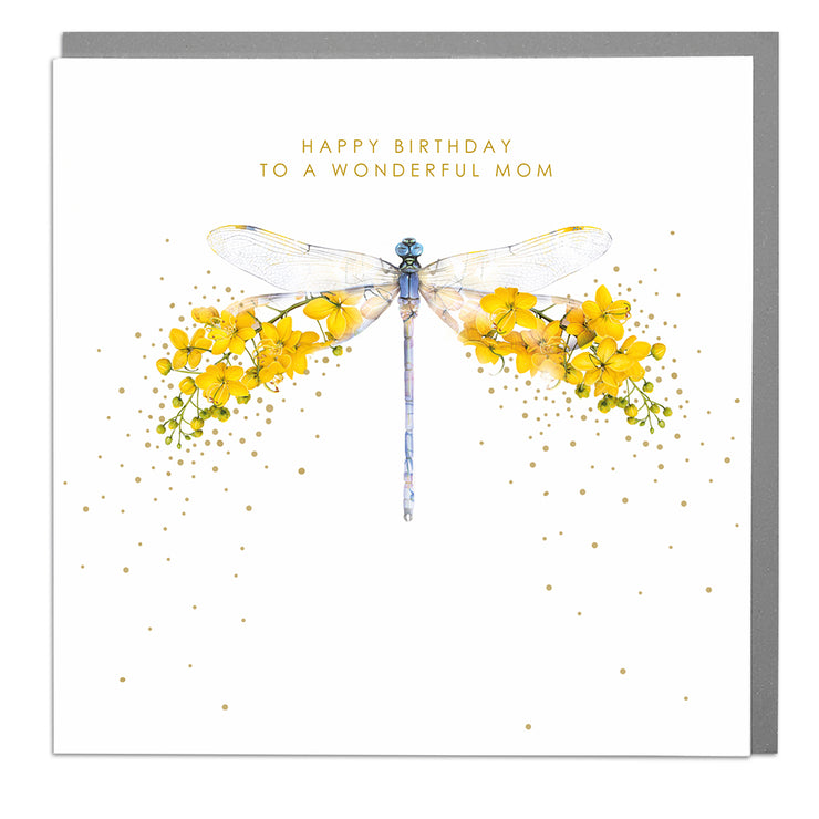Dragonfly Mom Birthday Card - Lola Design Ltd