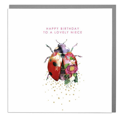 Ladybird Neice Birthday Card - Lola Design Ltd
