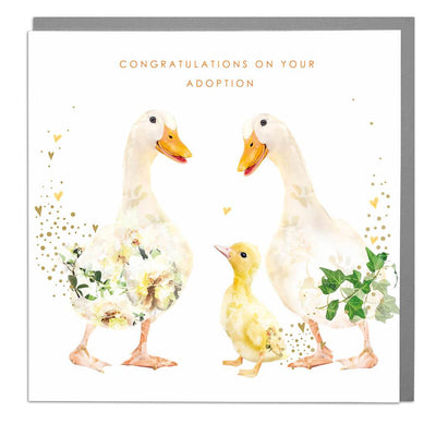 Ducks Congratulations on Your Adoption Card - Lola Design Ltd