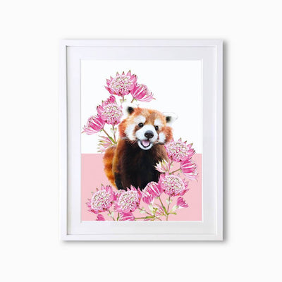 Red Panda Art Print - Lola Design Ltd