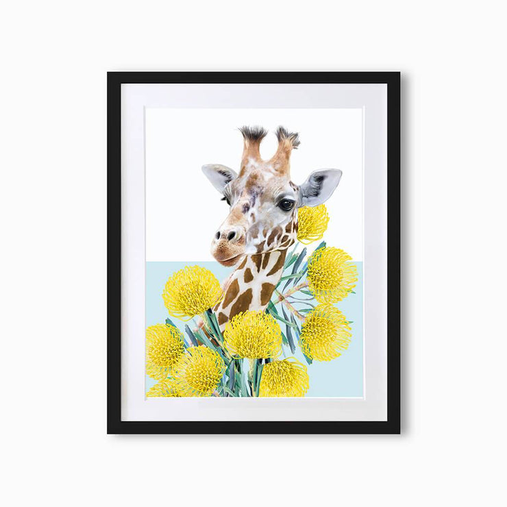 Giraffe Art Print - Lola Design Ltd