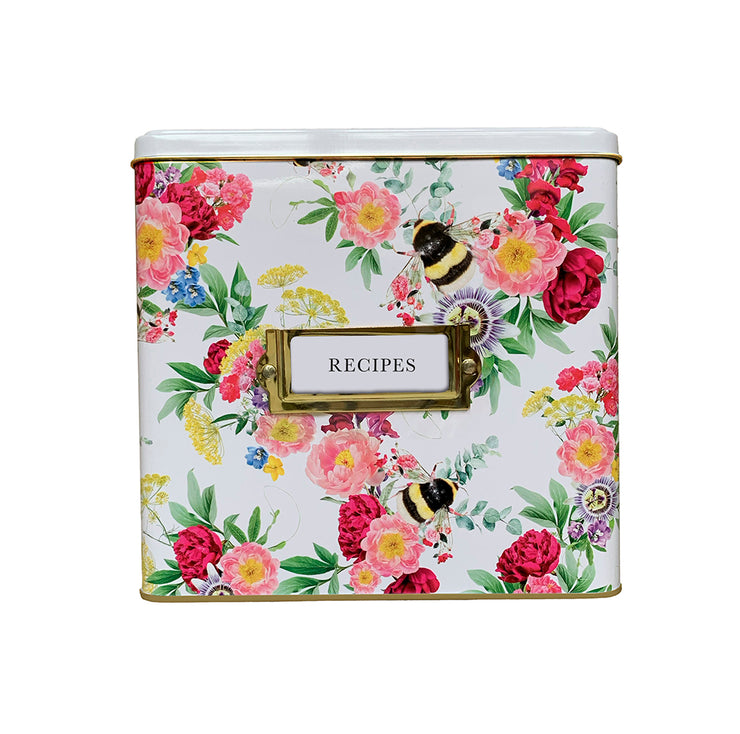 Recipe Tin featuring Botanical Bee - Lola Design Ltd