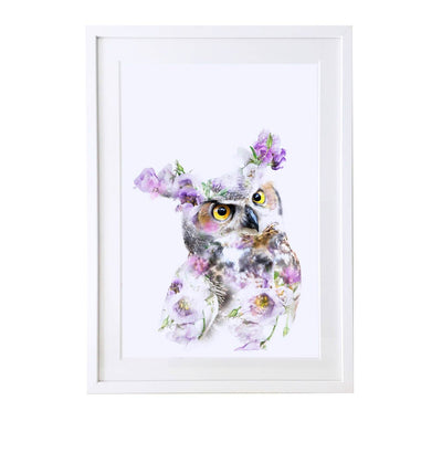 Great Horned Owl Art Print - Lola Design Ltd
