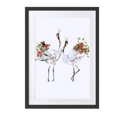 Japanese Cranes Art Print - Lola Design Ltd