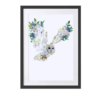 Tawny Owl Art Print - Lola Design Ltd