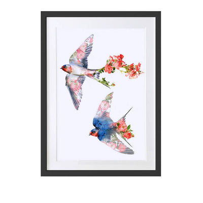 Swallows Art Print - Lola Design Ltd