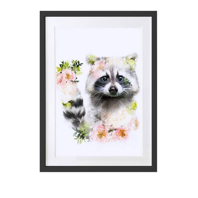 Racoon Art Print - Lola Design Ltd