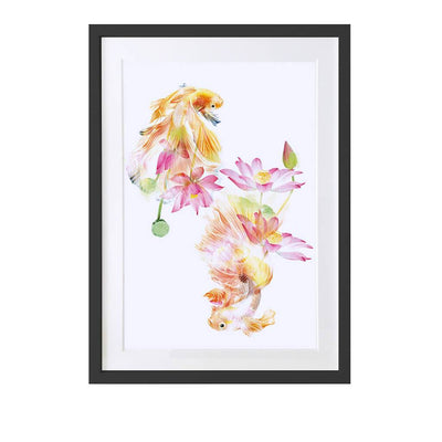 Japanese Fighting Fish Art Print - Lola Design Ltd