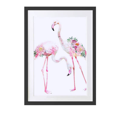Flamingos Art Print - Lola Design Ltd
