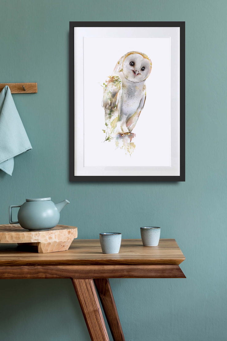 Barn Owl Print - Lola Design Ltd