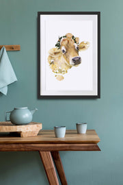 Jersey Cow Art Print - Lola Design Ltd