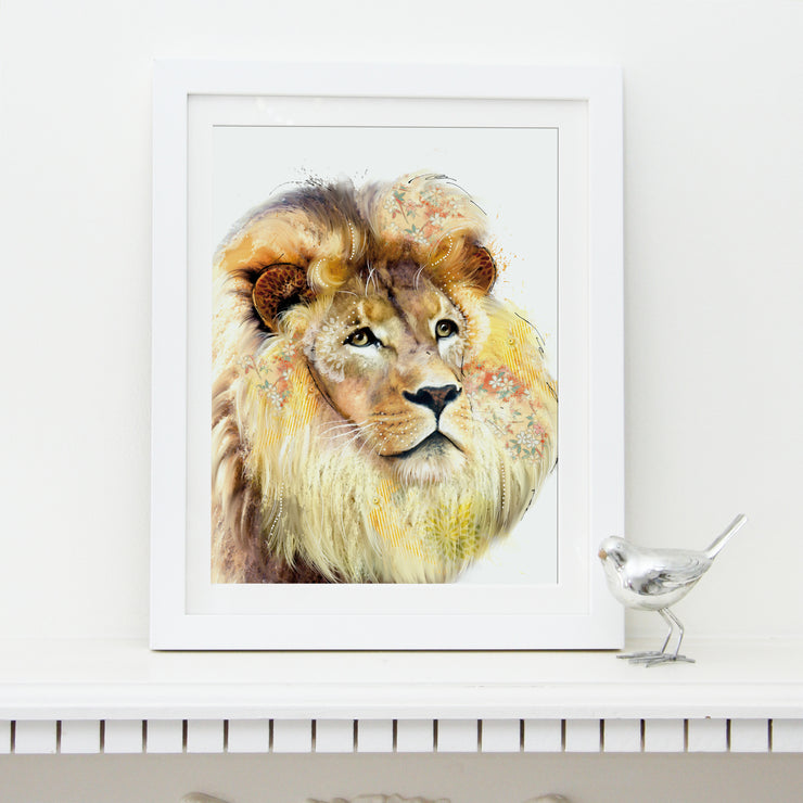 Lion Art Print - Lola Design Ltd