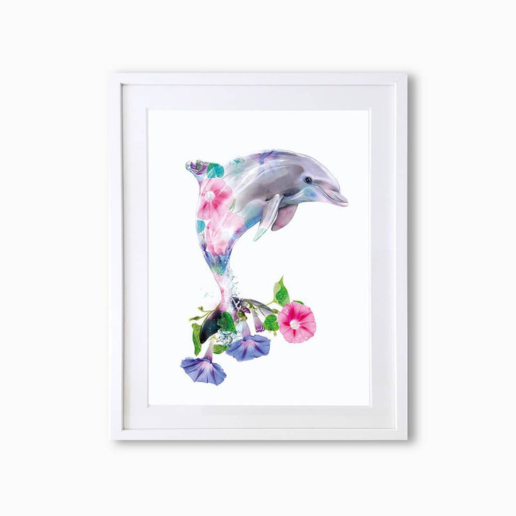 Dolphin Art Print - Lola Design Ltd