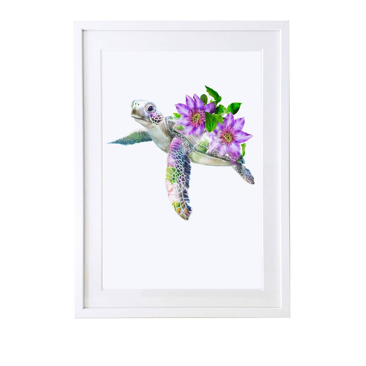 Sea Turtle Art Print - Lola Design Ltd