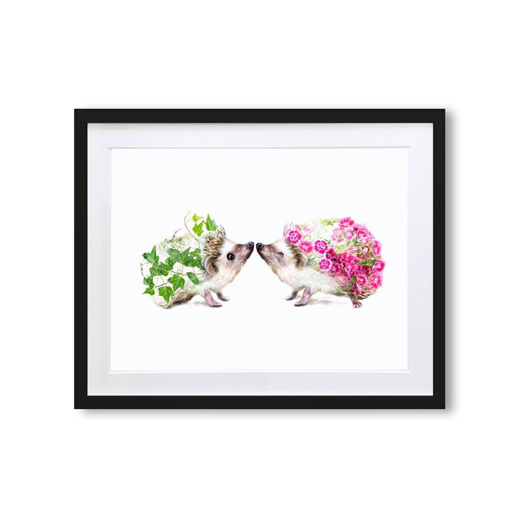 Hedgehogs Art Print - Lola Design Ltd