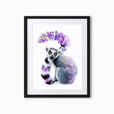 Lemur Art Print - Lola Design Ltd
