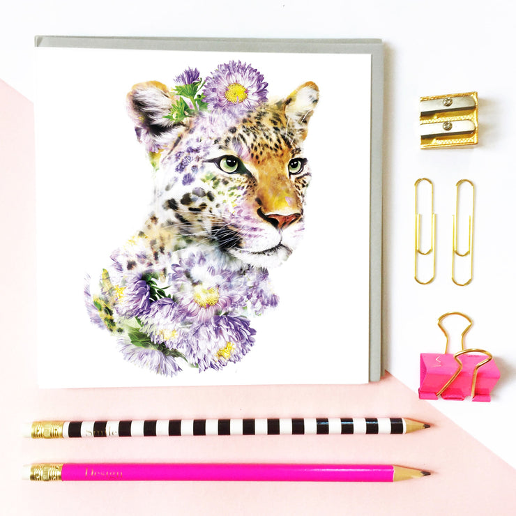 Leopard Card - Lola Design Ltd