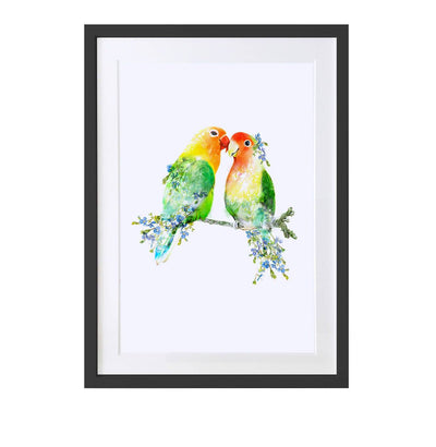 Love Birds Art Print - Lola Design Ltd