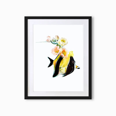 Moorish Idol Fish Art Print - Lola Design Ltd
