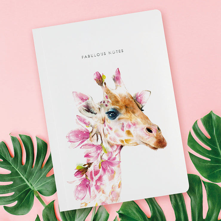 Giraffe Luxury Notebook - Lola Design Ltd