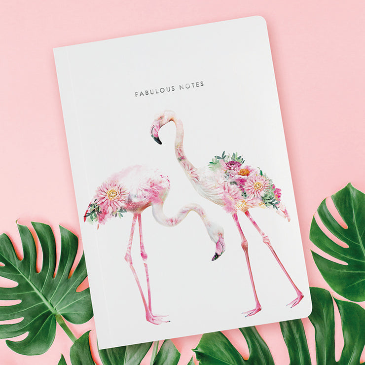 Flamingo Luxury Notebook - Lola Design Ltd