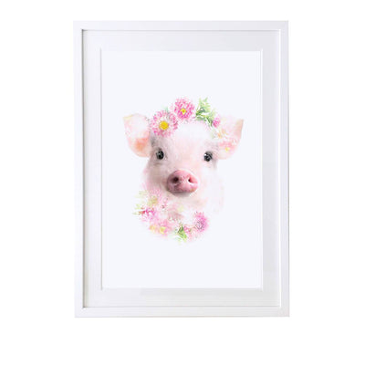 Piglet Art Print - Lola Design Ltd