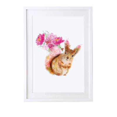 Red Squirrel Art Print - Lola Design Ltd