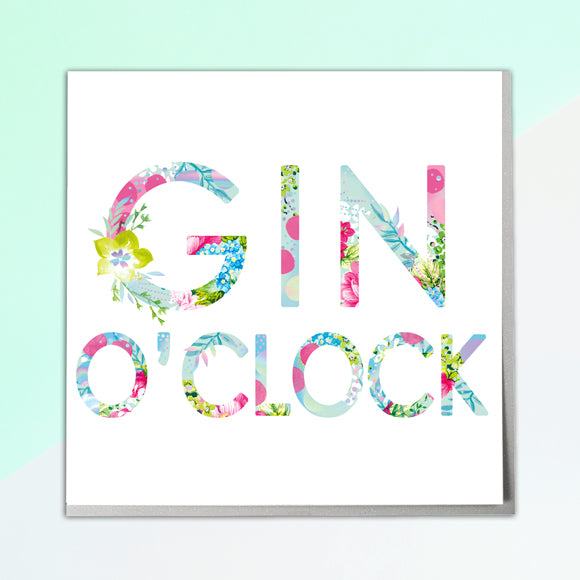 Gin O'Clock Card - Lola Design Ltd