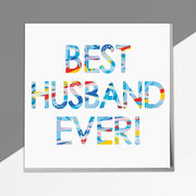 Best Husband Ever Card - Lola Design Ltd