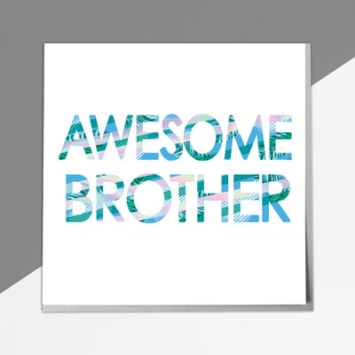 Awesome Brother Card - Lola Design Ltd