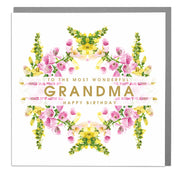 Wonderful Grandma Birthday Card - Lola Design Ltd