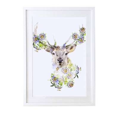 Stag Art Print - Lola Design Ltd