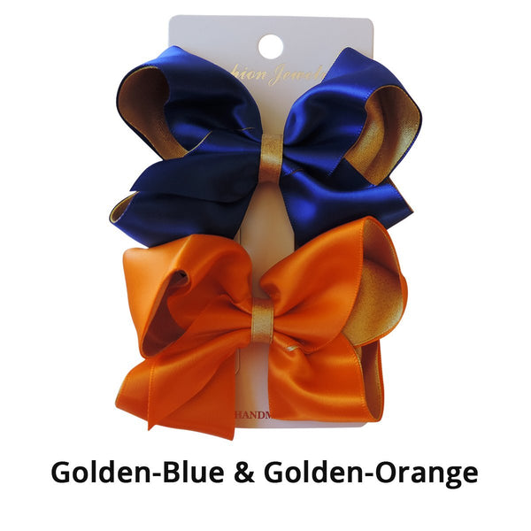 "3.6"" Satin & Sparkle Hair Bows Safari Totz"