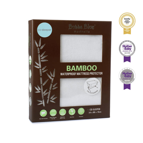 Bamboo White Co-sleeper Jersey Fitted sheet Safari Totz