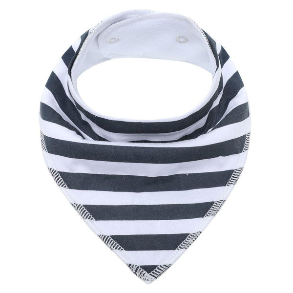 Bandana Black & White Stripes Bibs Safari Totz