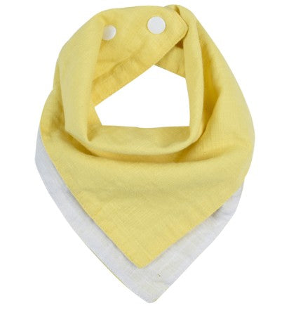 Bandana Eco-Friendly Yellow & White Bibs Safari Totz