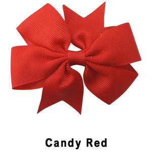 "3.1"" Candy Red Plain Grosgrain Ribbon Bow"