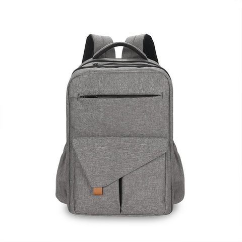 Dark Grey Nappy Bag / Back To School Backpack Phylistix