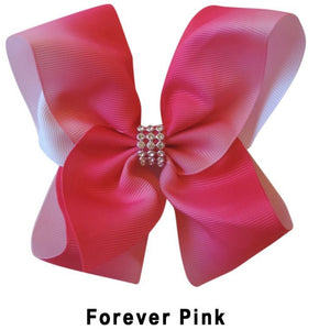 "5.5"" Forever Pink Plain Grosgrain Ribbon Bow"