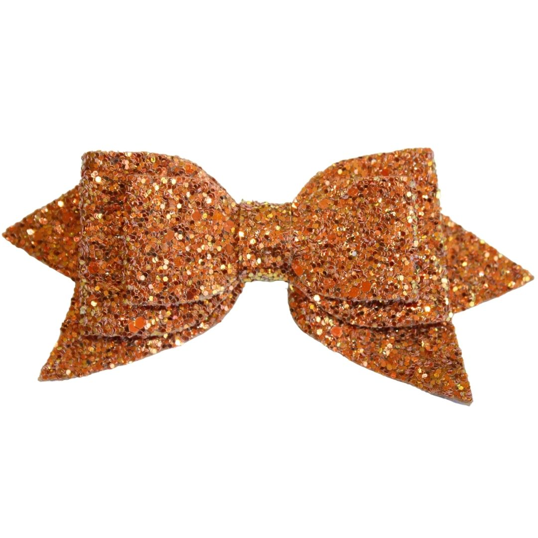 "3"" Gold Glitter Sparkly Bow"