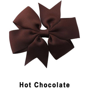 "3.1"" Hot Chocolate Plain Grosgrain Ribbon Bow"